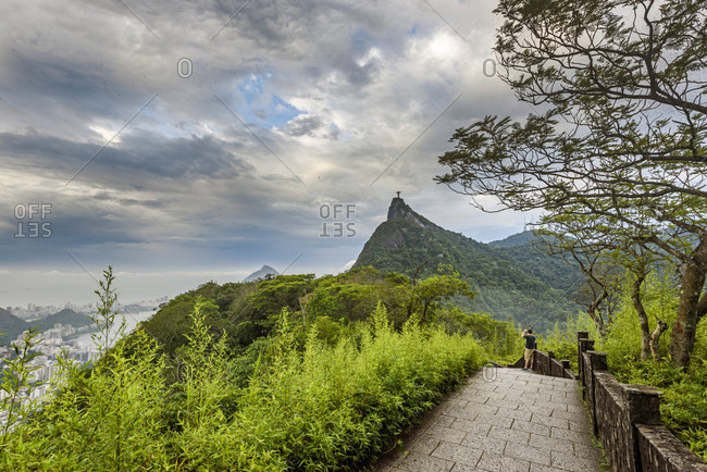 View To Corcovado Mountain From Mirante Dona Marta, Tijuca Forest National Park, Rio De Janeiro, Brazil