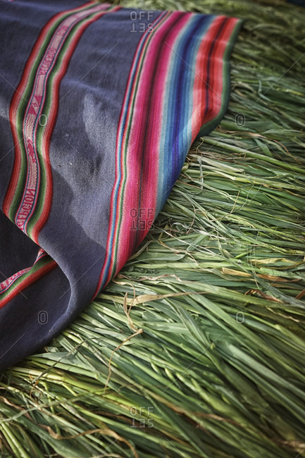 Peruvian Blanket On Green Grass