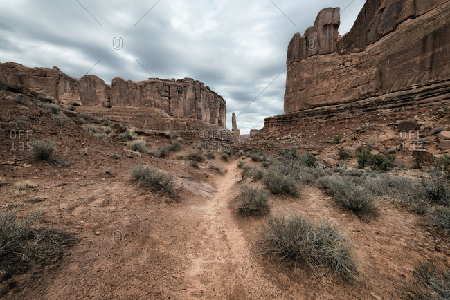 Rock formations in desert, Moab, Utah, United States
