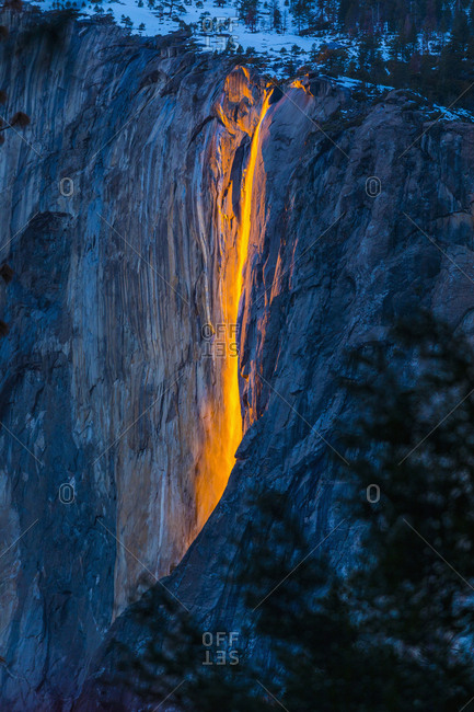 Horsetail Falls in Yosemite National Park, Yosemite, California, United States