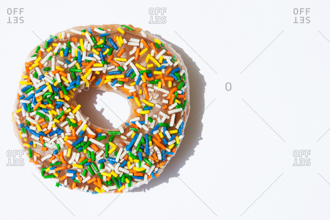 Donut with icing and sprinkles