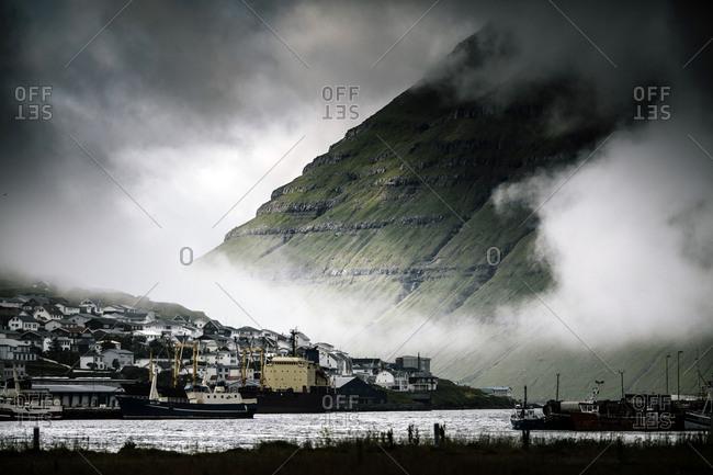 Klaksvik, Faroe Islands - July 24, 2014. The city of Klaksvik, which is the second largest town in the Faroe Islands.