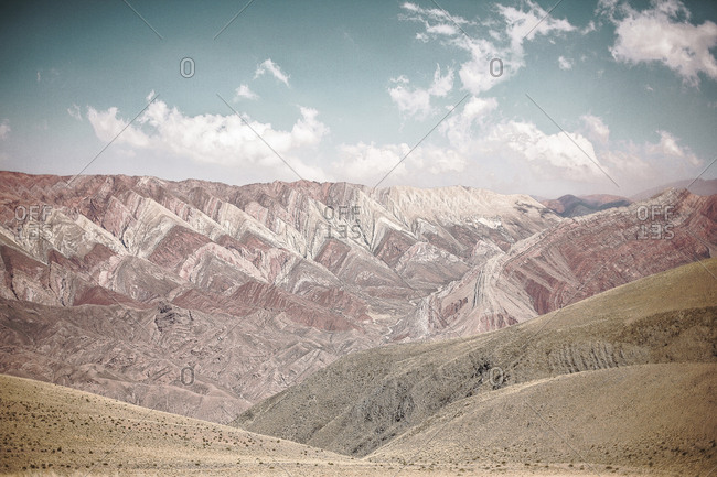 Naturally patterned mountains in Serran�a de Hornocal, Jujuy, Argentina