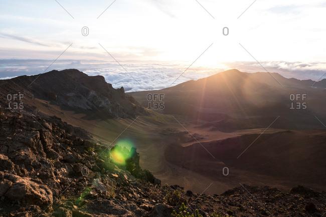 Sunrise over Haleakala Volcano, Maui, Hawaii