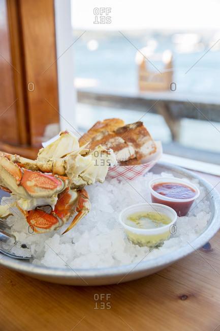 Crab, Tomales Bay, Marin County, Hog Island, USA