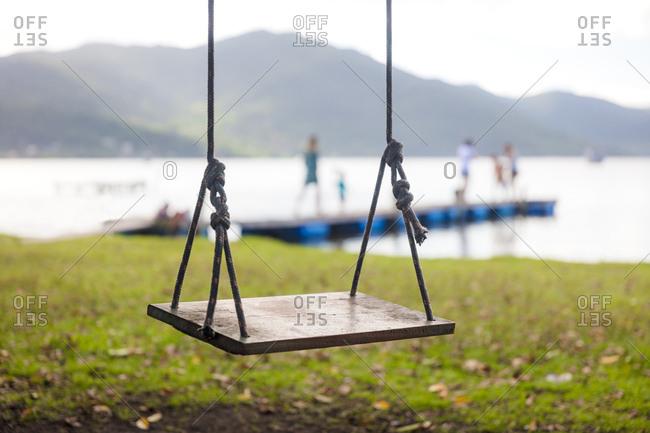 Empty swing seat, Florianopolis, Santa Catarina, Brazil