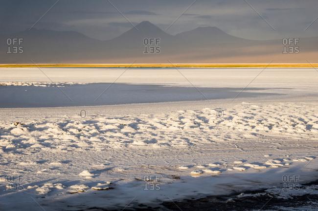 Snow covered landscape, San Pedro de Atacama, Chile