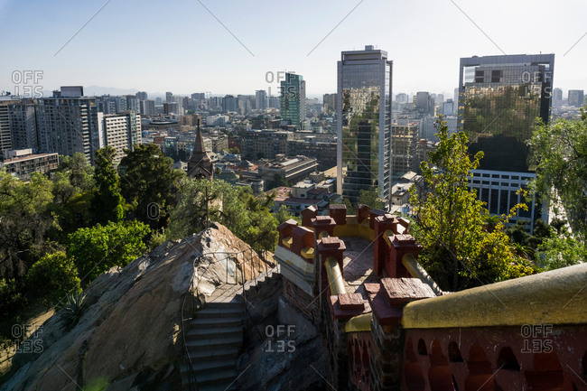 Elevated view of city, Santiago de Chile, Chile