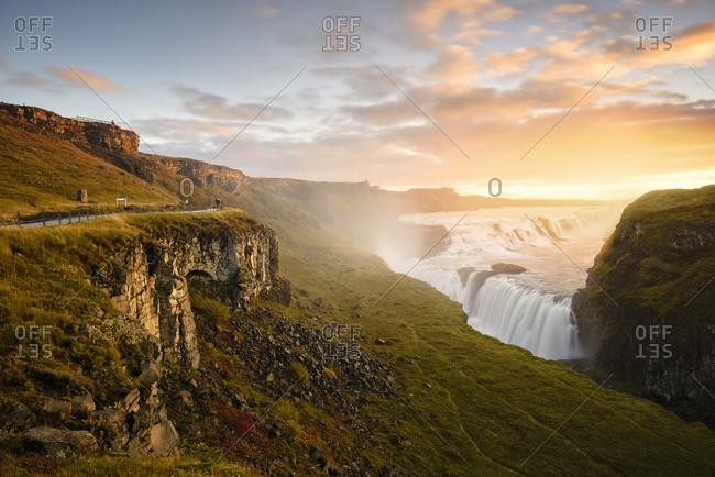Scenic view, Gullfoss, Iceland