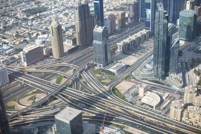 Cityscape, elevated view, Dubai, UAE