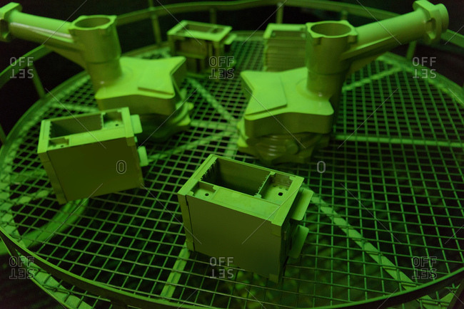 Cast components in precision casting factory