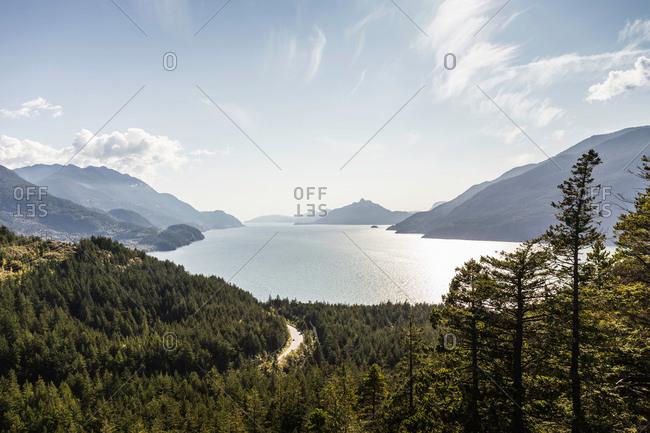 Howe Sound Bay; Murrin Provincial Park, Squamish, British Columbia, Canada