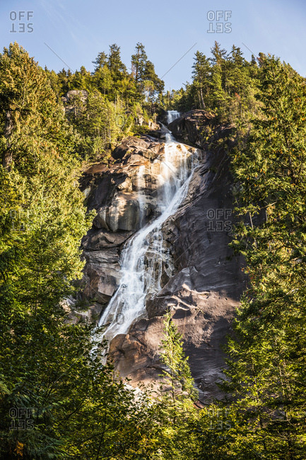 Waterfall, Shannon Falls Provincial Park, Squamish, British Columbia, Canada