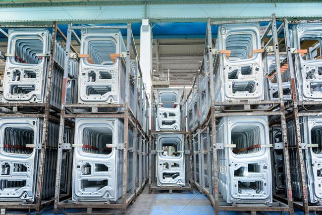 Car factory vehicle pressings