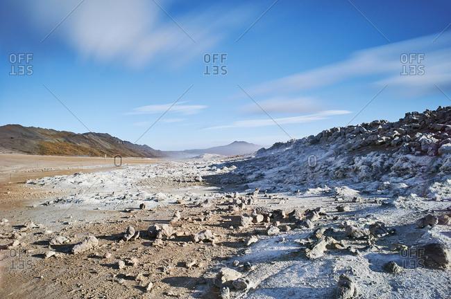 Desolate geothermal landscape, Namaskard, Myvatn, Iceland