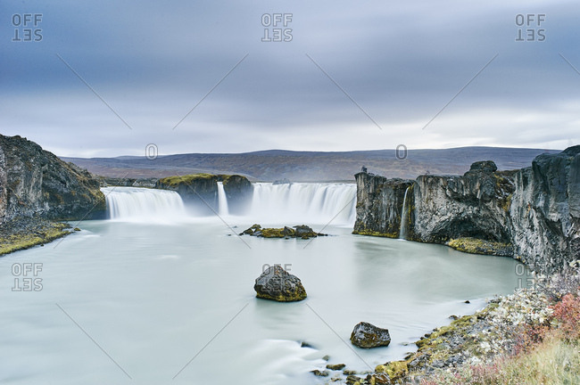 Waterfall Godafoss, Husavik, Iceland