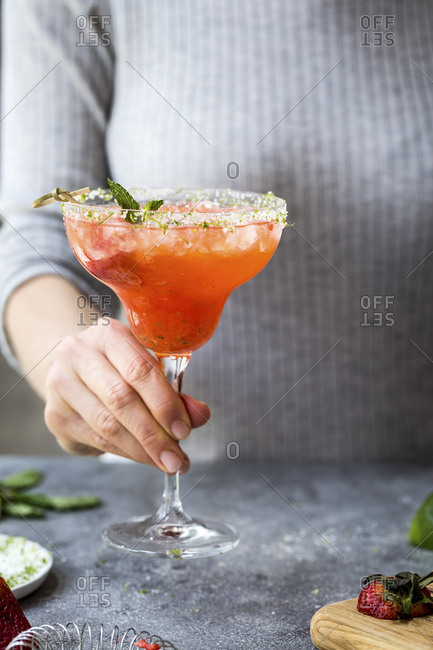 Strawberry Champagne Margarita