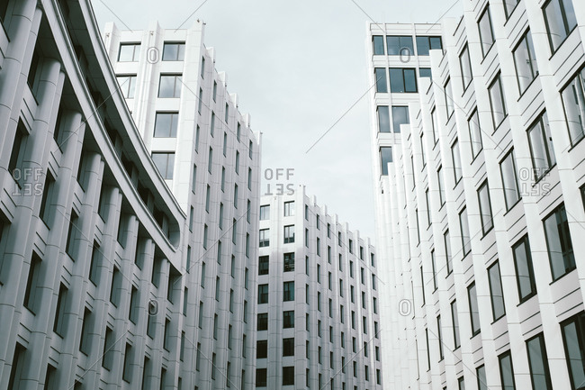 Modern office building complex in Moscow, Russia