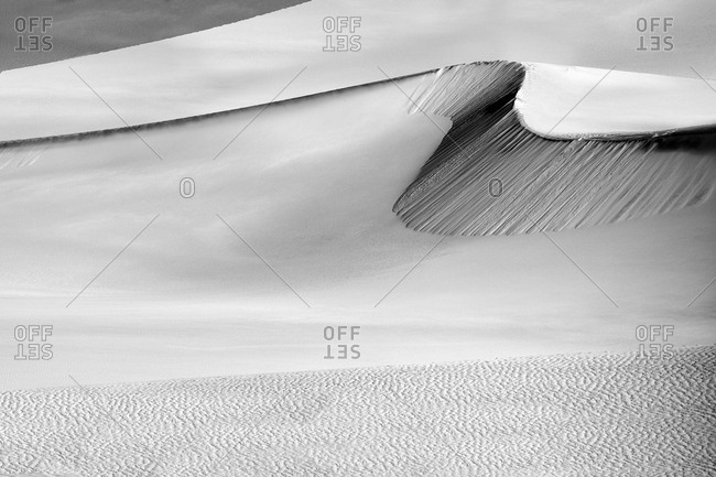 Wind-rippled sand dunes in Death Valley National Park