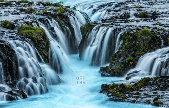 Bruarfoss waterfall in Iceland - Offset