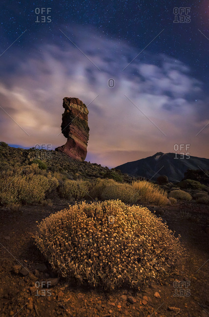 Roque Cinchado in Teide Park, Canary Islands