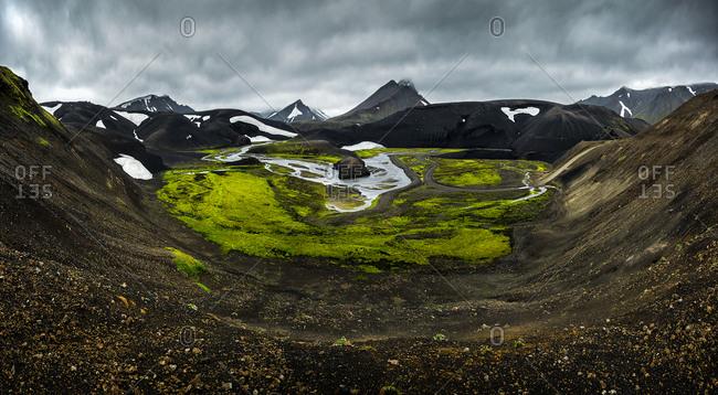 landmannalaugar volcanic zone in Iceland