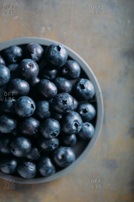 Blueberries on grunge background