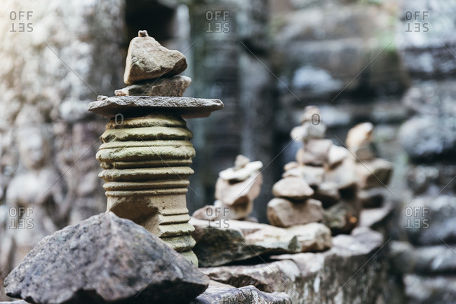 Zen stones in nature environment. Relax Concept.