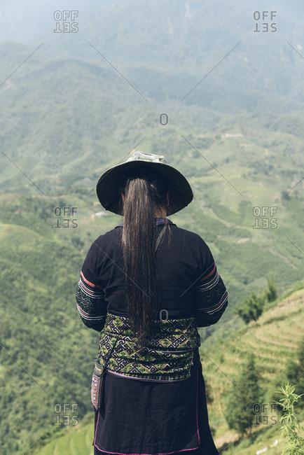 Hmong woman in sapa. Vietnam.