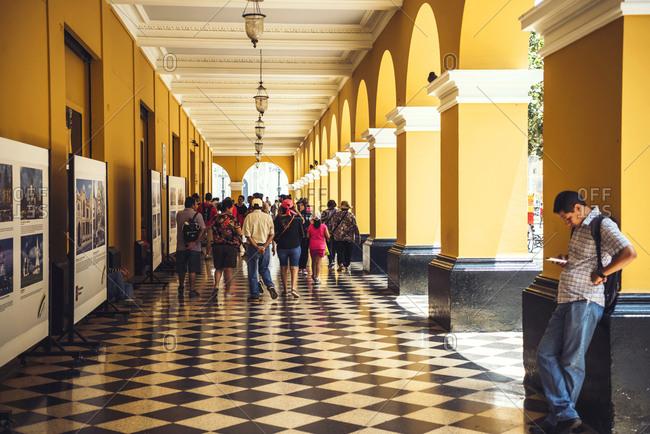 LIMA, PERU - DECEMBER 26, 2016: View of Town Hall of Lima, Peru.