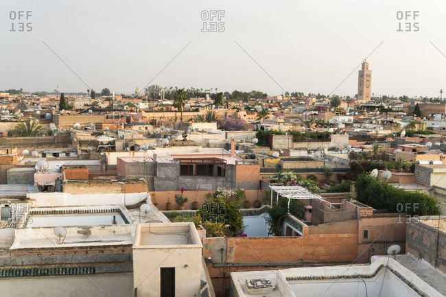 Morocco, Marrakesh - April 13, 2017: Cityscape