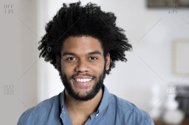 Portrait of smiling man looking in camera