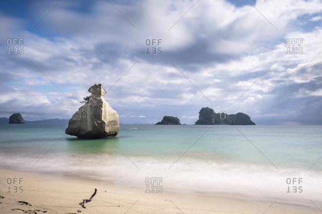 New Zealand - Coromandel Peninsula - Cathedral Cove - rock in the sea
