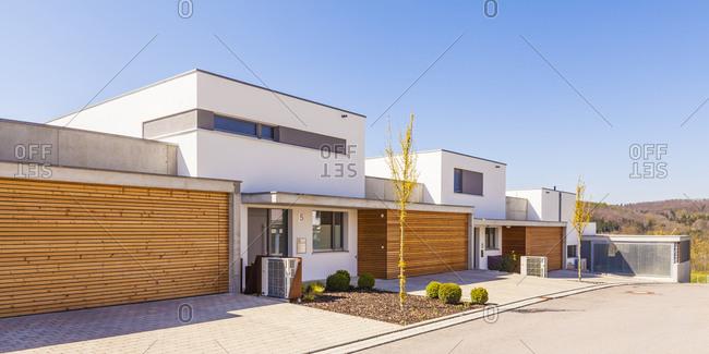 Energy saving one - family houses