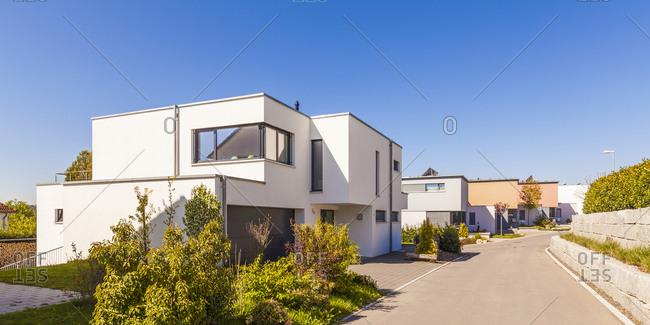 Modern one - family houses