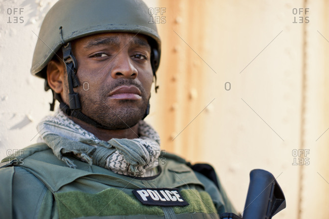 Military police officer in uniform