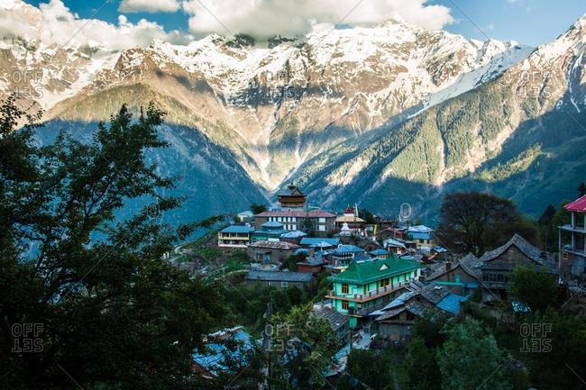 Scenic view of Kalpa, Kinnaur.