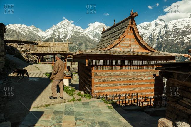 Himalayas - June 3, 2014: Hindu Temples in kalpa