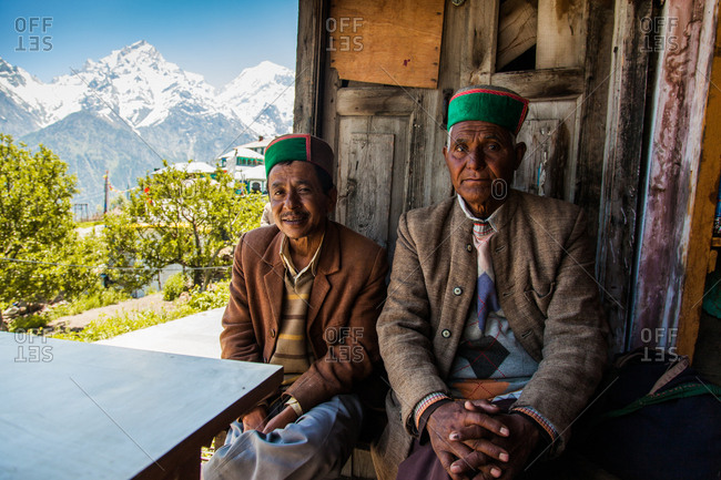 Himalayas - June 4, 2014: Locals in the Himalayas.
