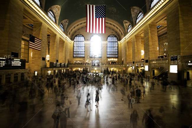 New York, United States of America - June 2, 2009. The Grand Central Terminal in New York, also known as the Grand Central Station, has remained the busiest train station in United States of America.