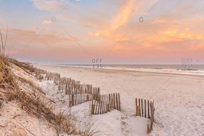 Sunset sky over Topsail Island, North Carolina