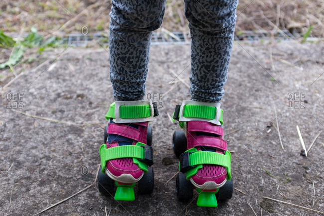 Old fashioned, strap on roller skates