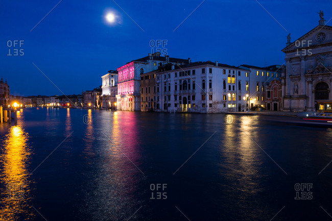 The Grand Canal at night, Venice