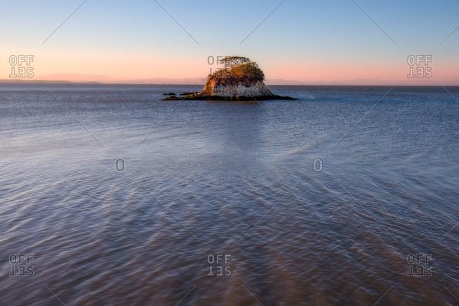 Island in the sea off California coast