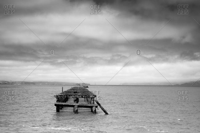 Abandoned dock off California coast