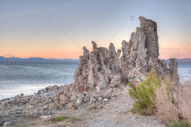 Tufa rock formations in rural California