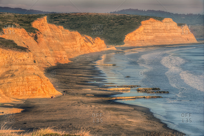 Cliffs along a California beach