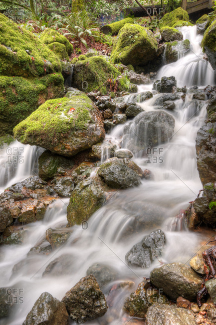 A small cascade in motion blur in California