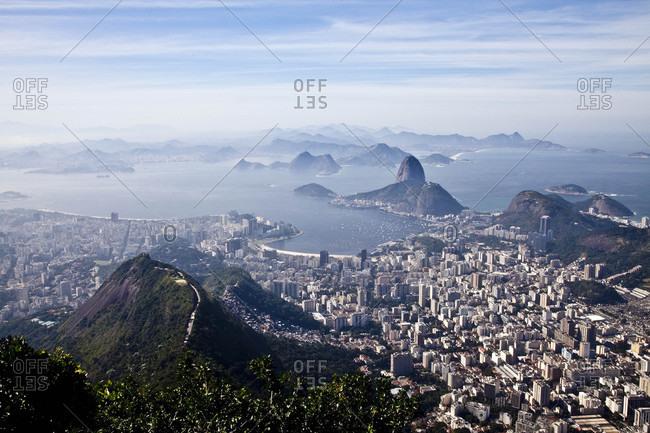 Aerial view of Rio de Janiero, Brazil