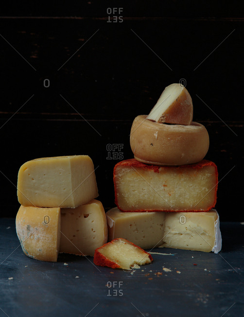 A selection of hard cheeses from Italy